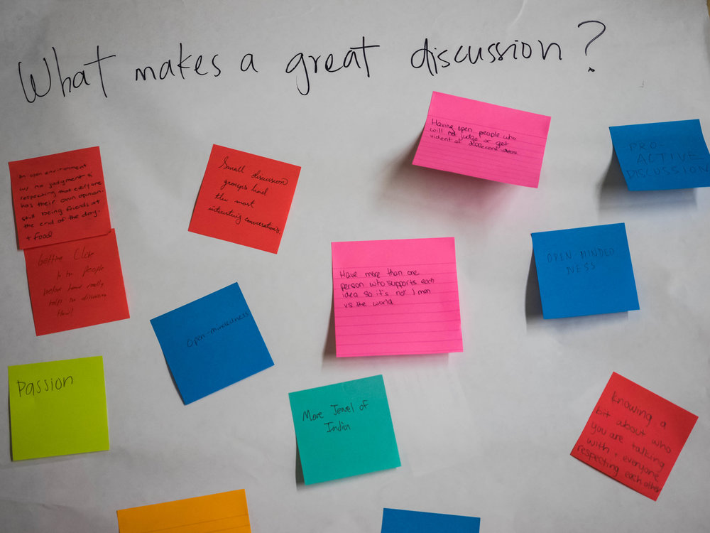 What makes a great discussion? - Passion, Open-Mindedness, Respect