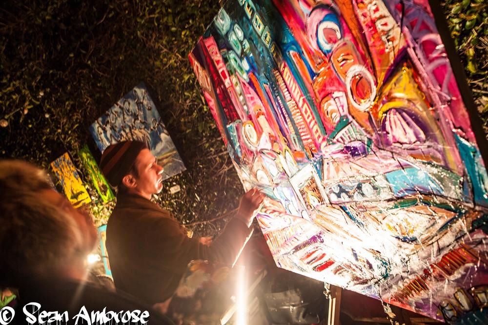 live painting @ Art Sanctuary