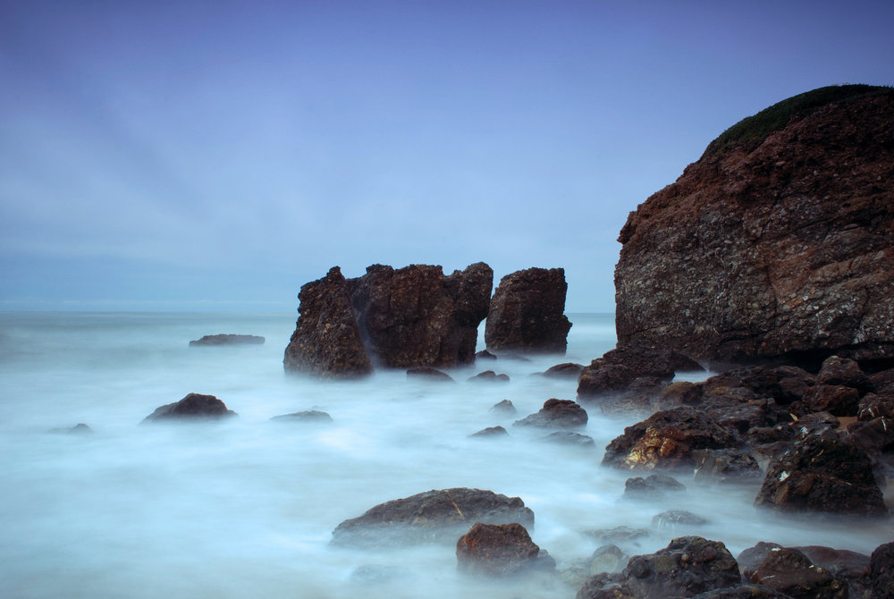 Moody California Coast Slow Shutter Speed