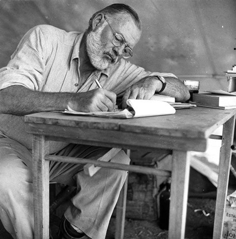 Hemingway making his 38th revision.