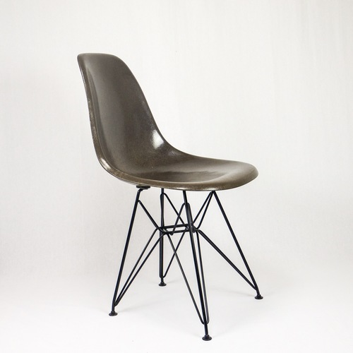 Chaise Eames Hermanmiller Vintage Marron Sealbrown Charcoal 2
