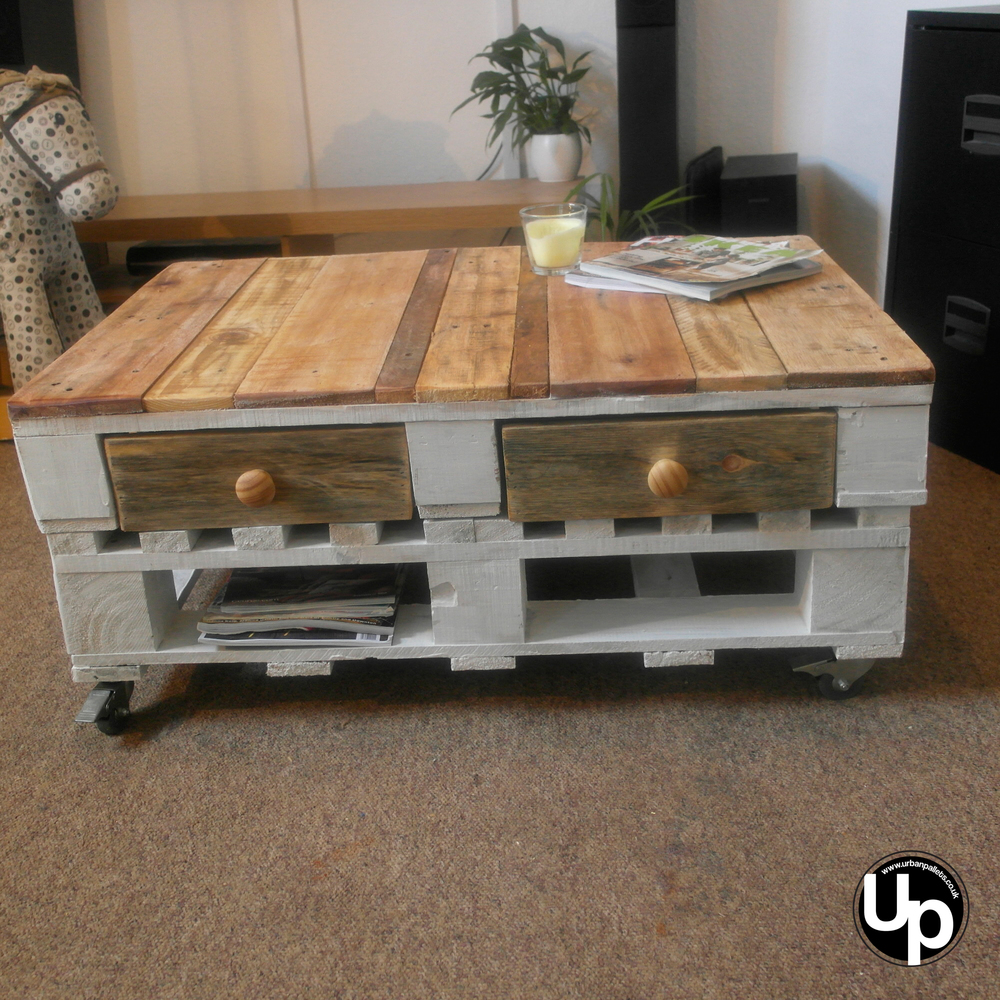 Shabby Chic Coffee Table Part - 26: NEW Shabby Chic Coffee Table White Wash Bottom Wood Top