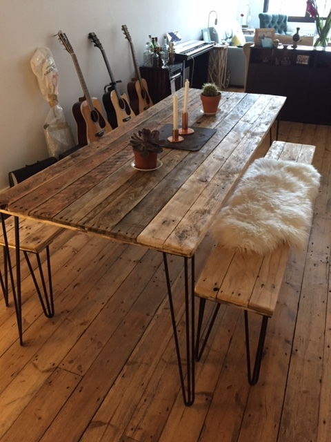 So Pleased With Our Custom Table And Bench Set Thank You Guys Much Sarah X