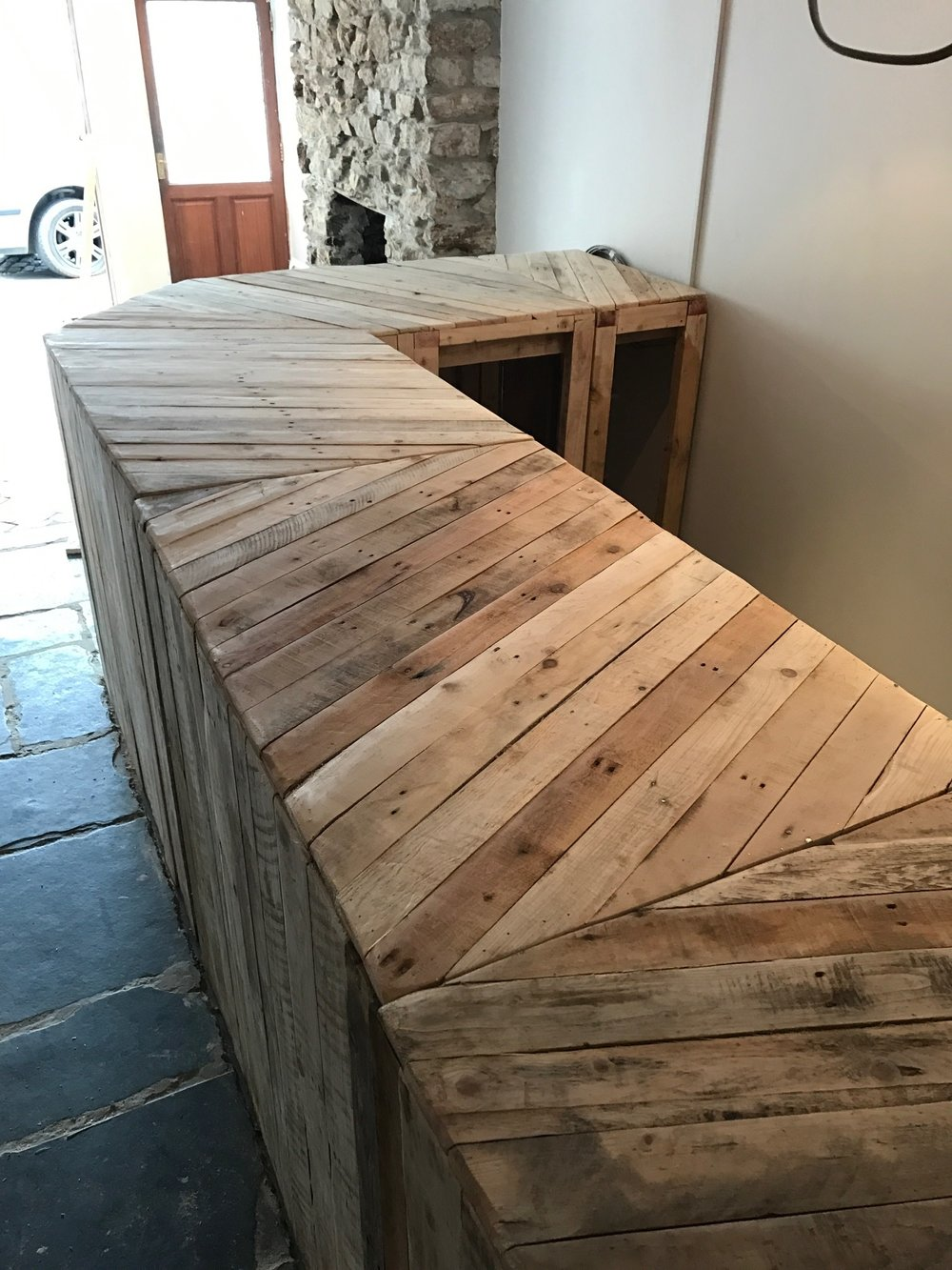 URBANPALLETS supplied 22 tables for our new central london bistro  They  look amazing and fit the brief perfectly  Would highly recommend  Thank you  guys. Reclaimed Wood Furniture Made in the UK   Pallet Coffee Tables
