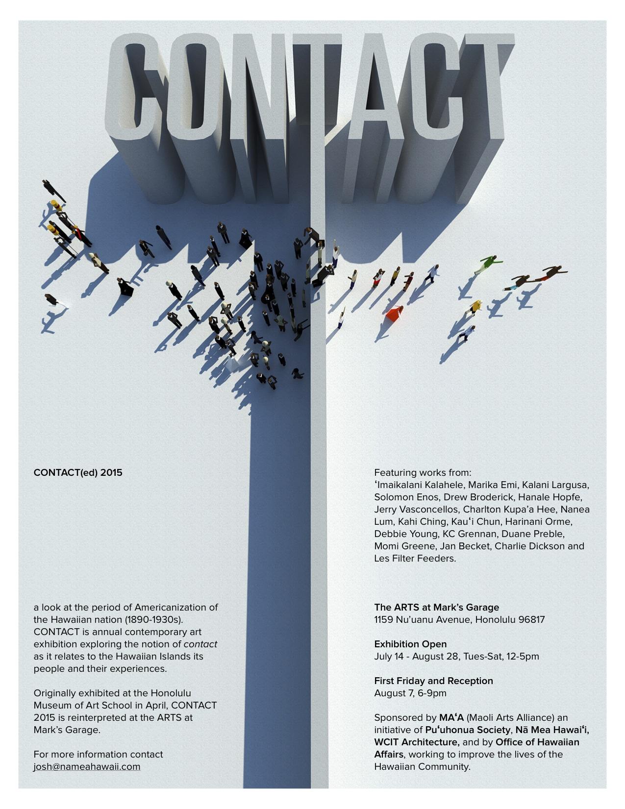 CONTACT(ed) — The ARTS at Marks Garage