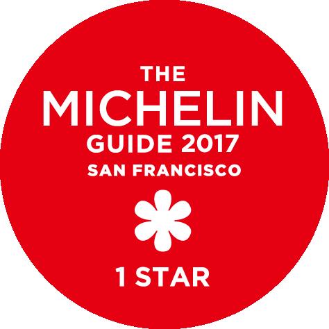 THE MICHELIN GUIDE 2017 SAN FRANCISCO 1 STAR