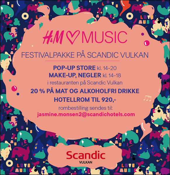H&M  Diverse materiell til musikkfestival