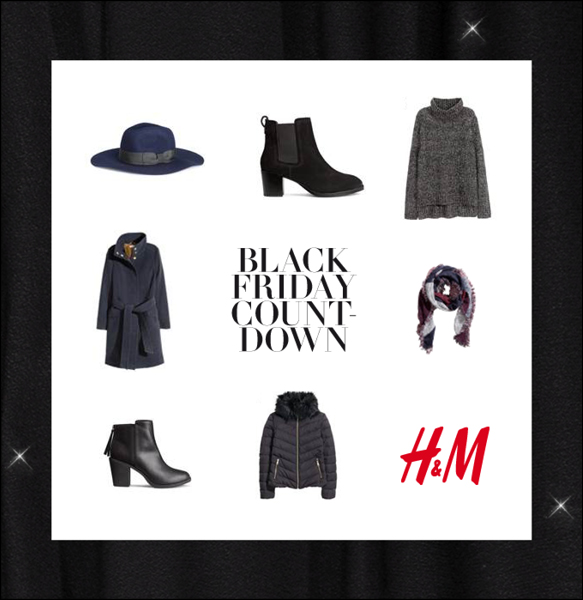 H&M  Diverse materiell til Black Friday