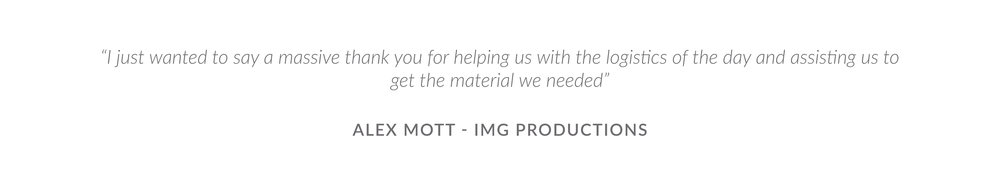 Testimonial - Alex Mott, IMG Productions