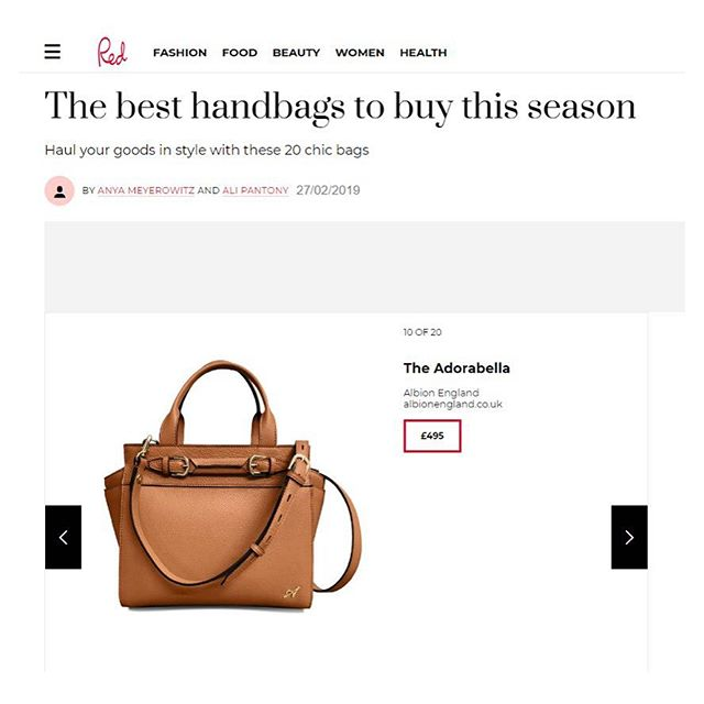 Best Handbags to buy this season 👜 by @redmagazine featuring the Adorabella by @albionlifestyle #albionlifestyle