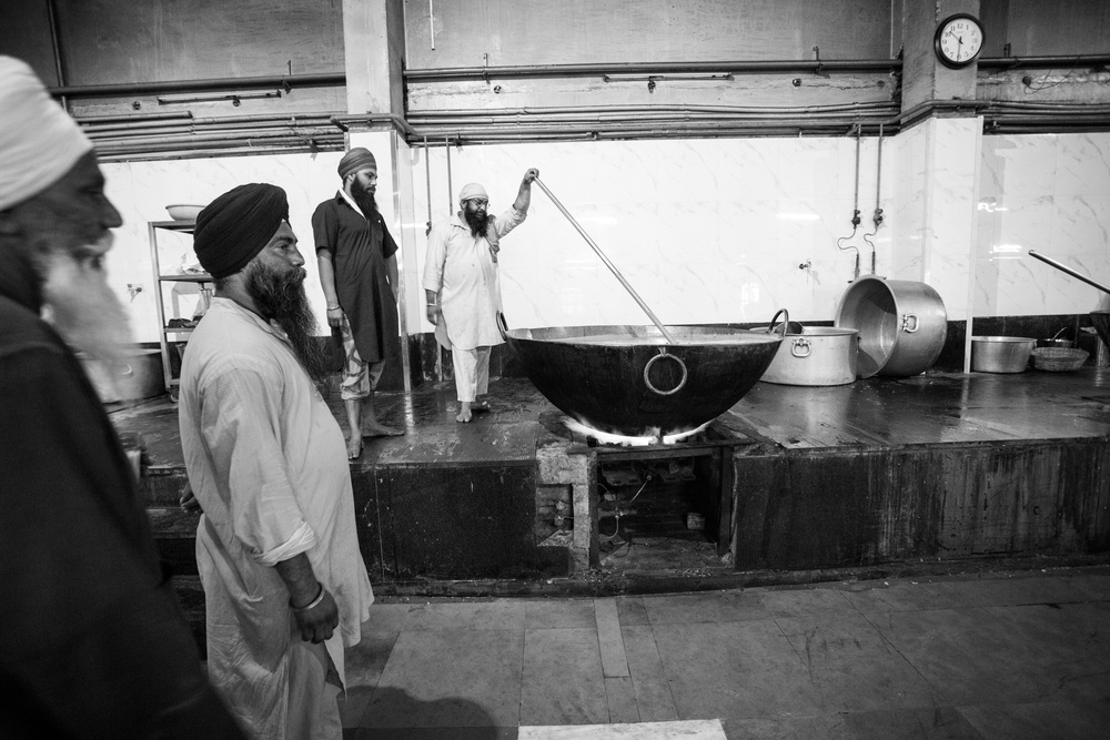 Huge vats of curry