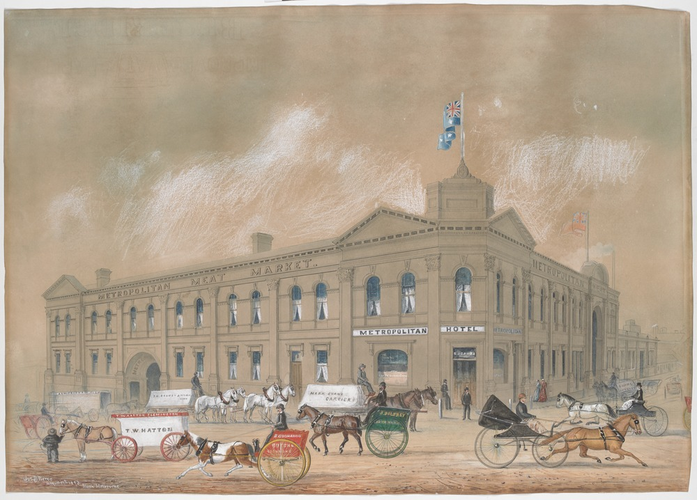 The Metropolitan Meat Market, North Melbourne, 1893, Gus B. Pearce State Library Victoria, H2013.190