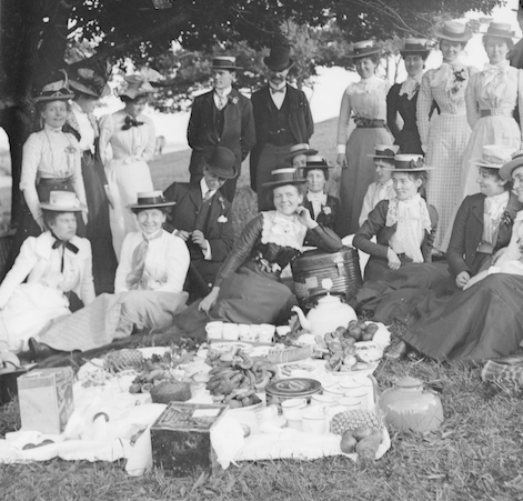 Picnic party, c. 1900, James Fox Bernard, State Library Victoria, H2002.125/32