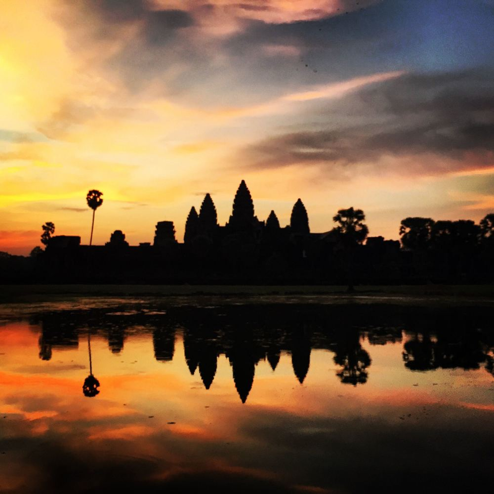 Angkor Wat at about 5:45AM.  Worth the early morning call time.