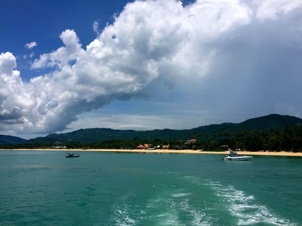 Bye bye, Koh Samui!  In two hours, this ferry will be in Koh Tao.