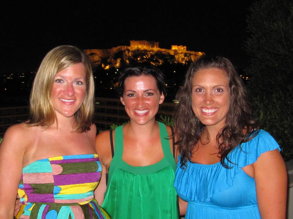 Fondly referenced as the tannest we have ever been standing in front of the Acropolis.