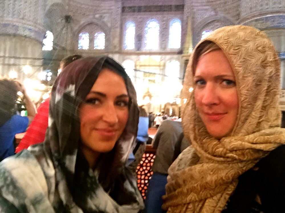 I call this our response to seeing a girl answer her phone in the Blue Mosque while it was still attached to the extended selfie stick.
