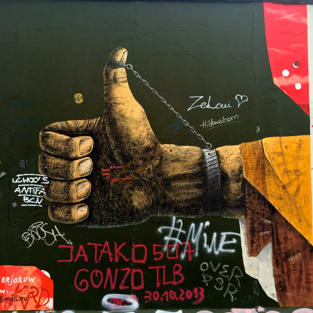 Image on the Berln Wall, at the East Side Gallery