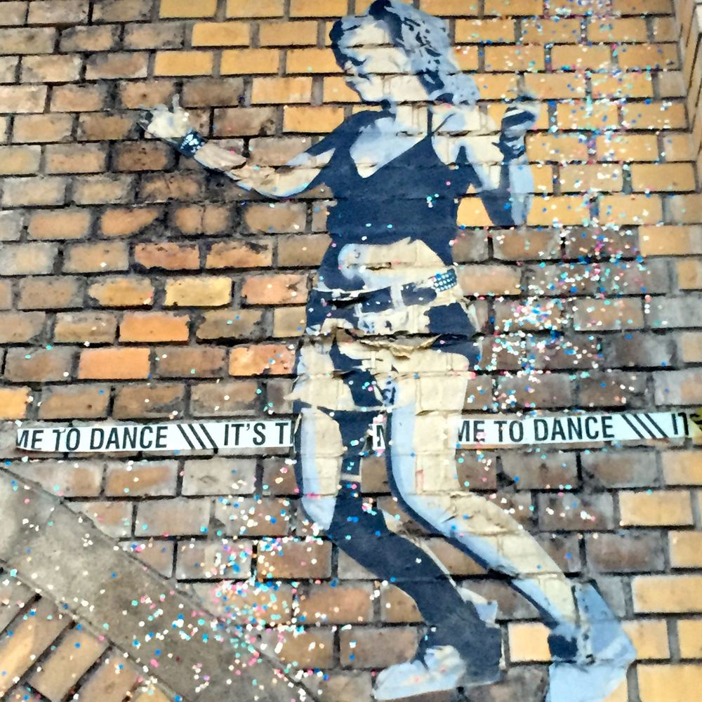 Time. To. Dance.  Glitter girls are all over East Berlin.