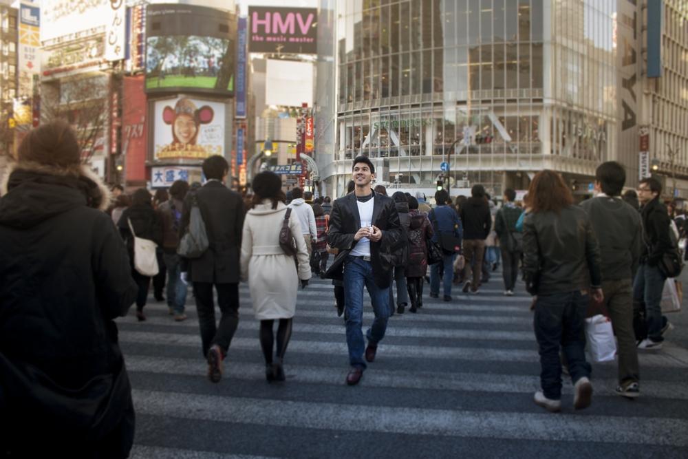 TV Pilot, Shibuya Crossing, Tokyo, Japan