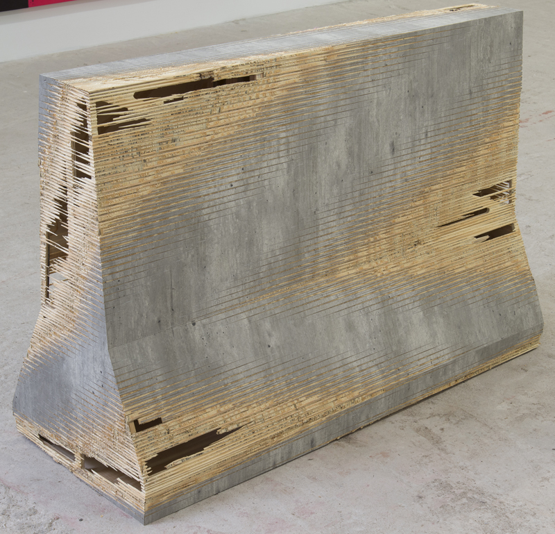 Michael DeLucia   Barrier , 2015 High pressure laminate on plywood 32 x 18 x 48 inches