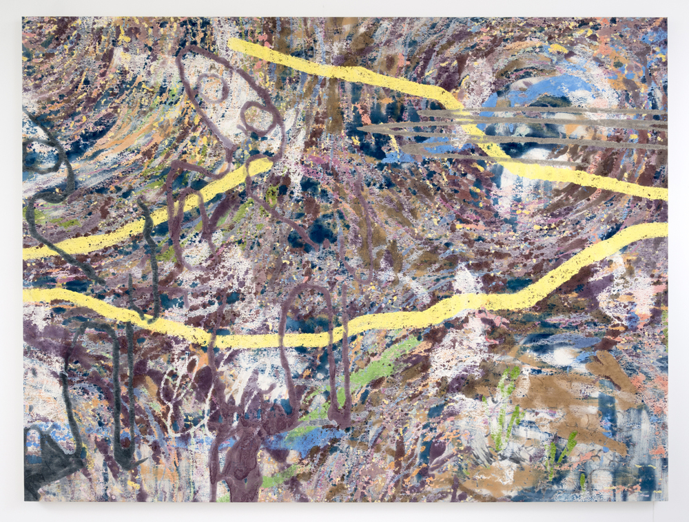 Chris Hood    Acid Test Reflux , 2015  Oil on canvas  59 x 79.75 inches