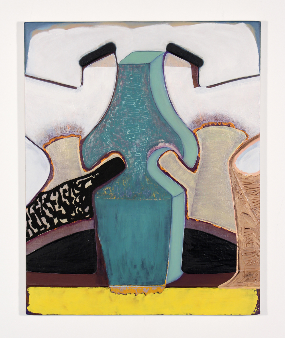 Magalie Guérin    Untitled (hat-big nose) , 2015  20 x 16 inches  Oil on canvas