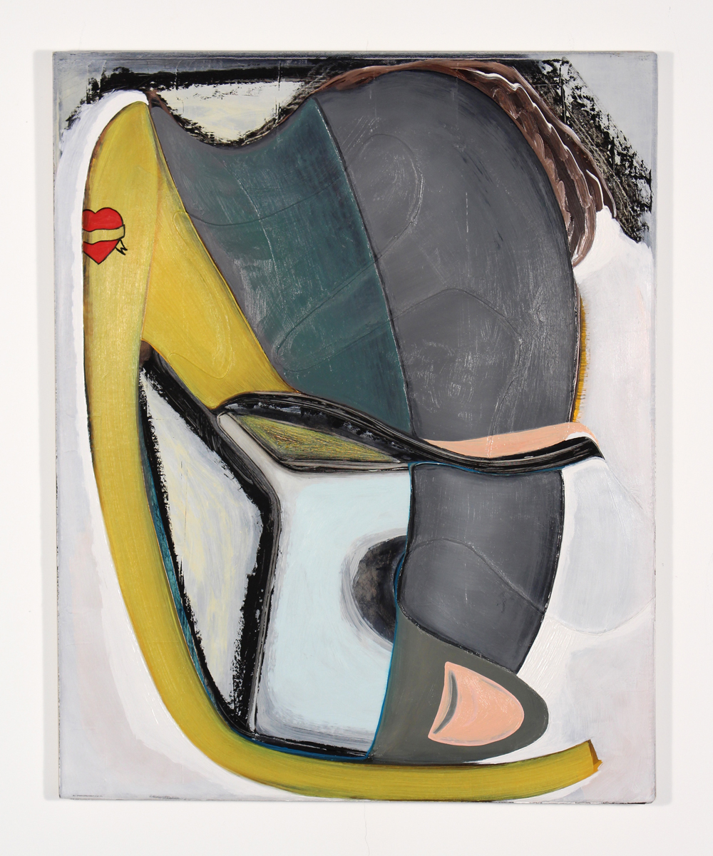 Magalie Guérin   Untitled (hat-tattoo), 2013-15  20 x 16 inches  Oil on canvas