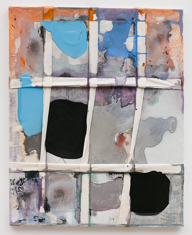 Molly Zuckerman-Hartung    Dirty Window , 2015  Oil, latex and dye on sewn muslin  25 x 20 inches
