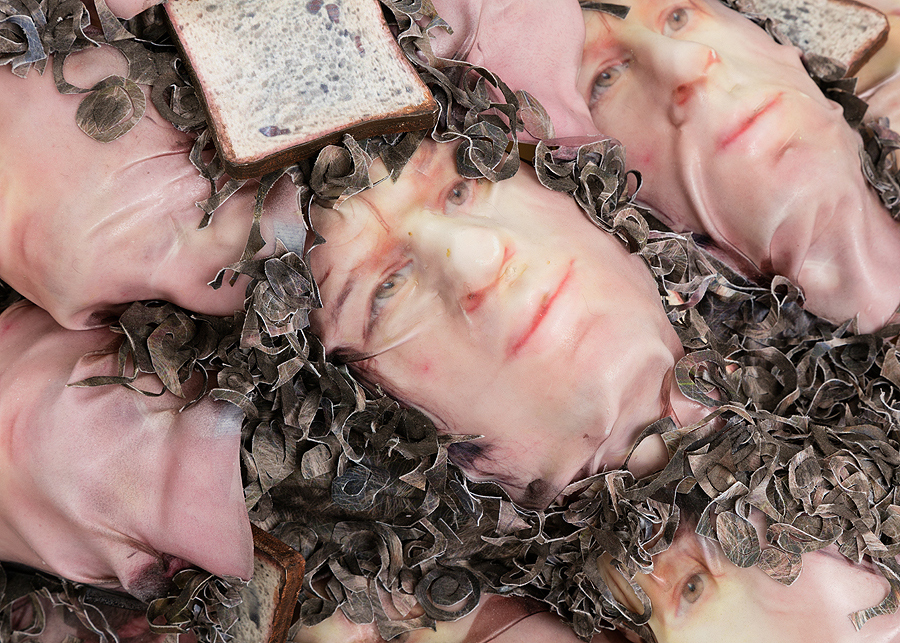 David Kennedy Cutler    Sick Bacchus (Head and Bread Repeat),  2016  Detail view