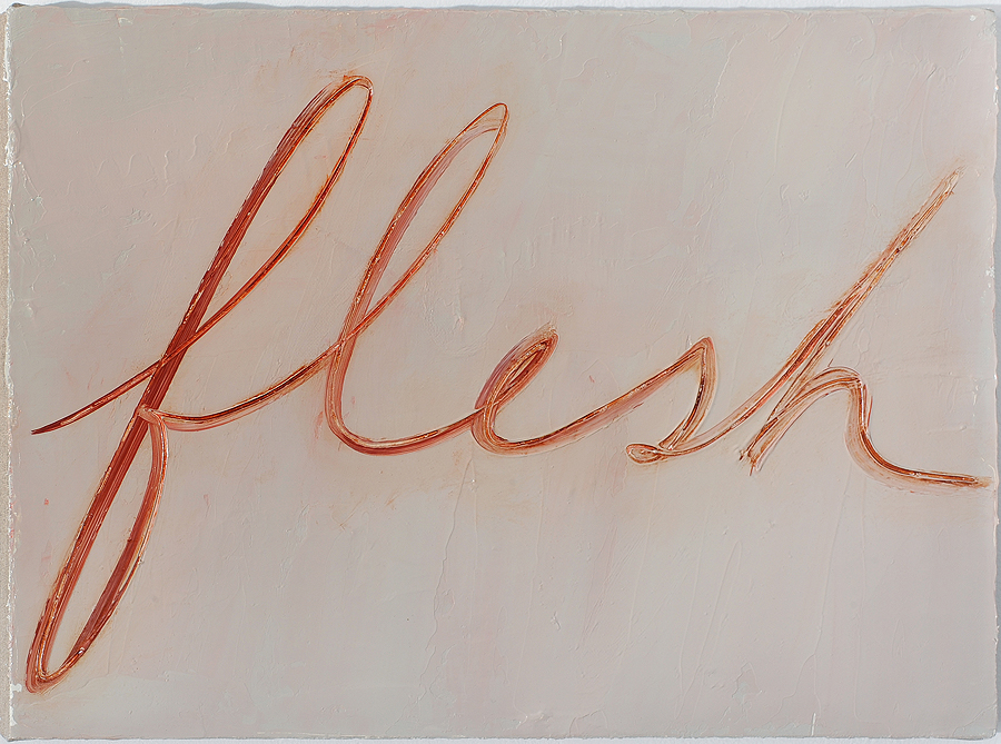 Mira Schor    Flesh , 2015  Oil on linen  12 x 16 inches