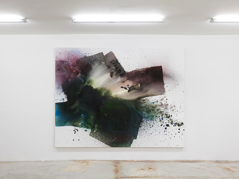 Max Frintrop    American Gods , 2016  Pigments, ink, acrylic on canvas   170 x 220 cm  66.9 x 86.6 inches