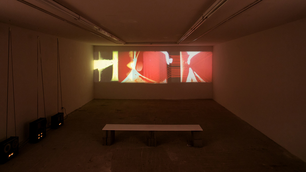 Rose Kallal    Four Pillars , 2016  16mm film installation with film and sound loops