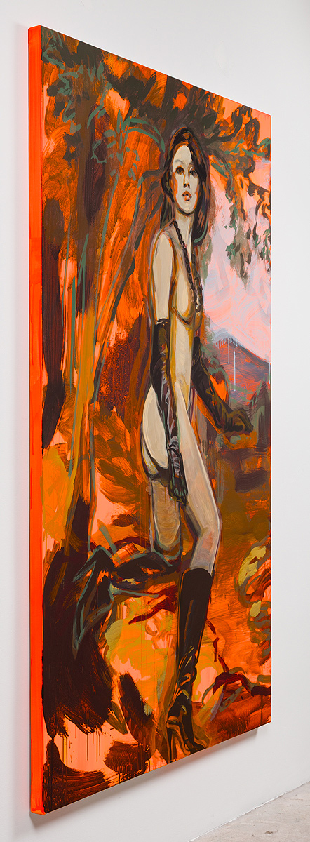 Claire Tabouret    The Escape (Orange) , 2016  Side view