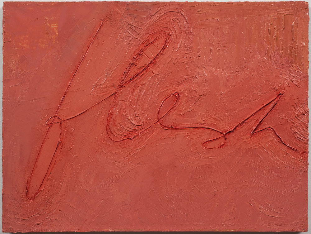 Mira Schor   Flesh , 1997  Oil on linen  12 x 16 inches