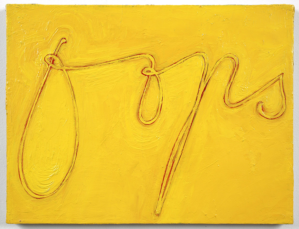 Mira Schor   Delicate Oops , 1997  Oil on linen  12 x 16 inches