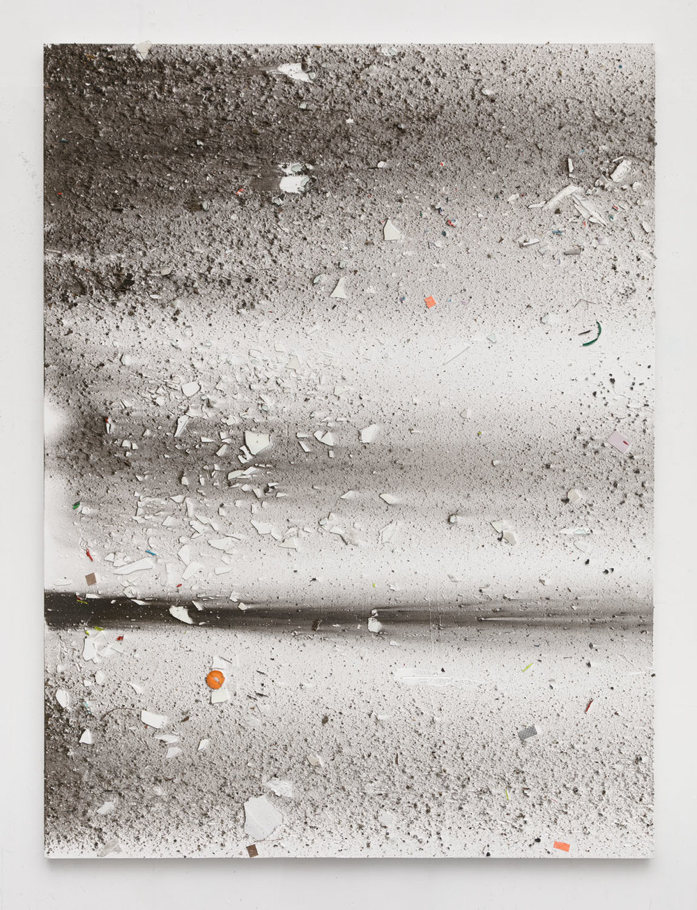 Thomas Fougeirol  Untitled, 2016  Mixed media on canvas  76 x 57 inches