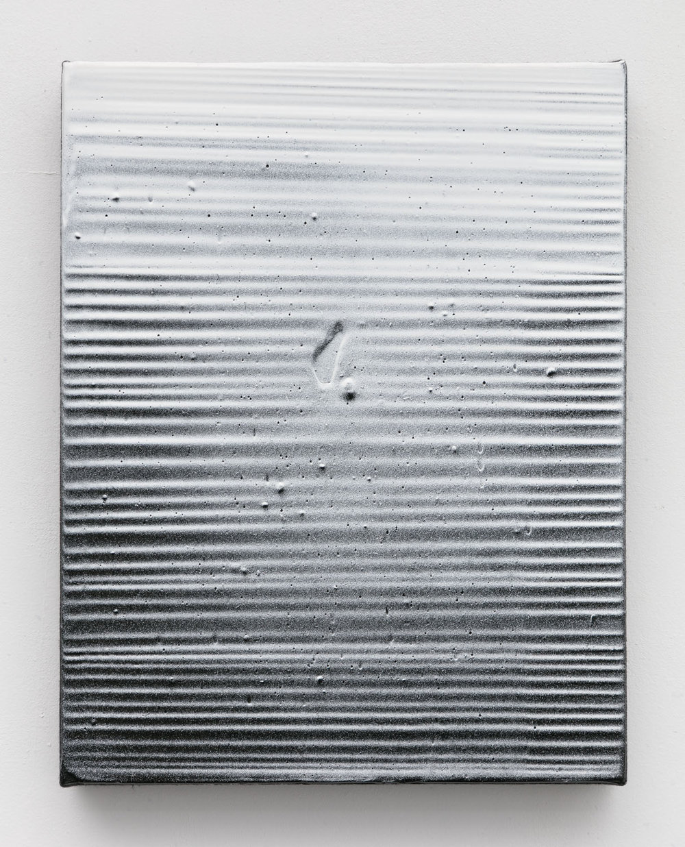 Thomas Fougeirol   Untitled , 2016  Mixed media on canvas  14 x 11 inches