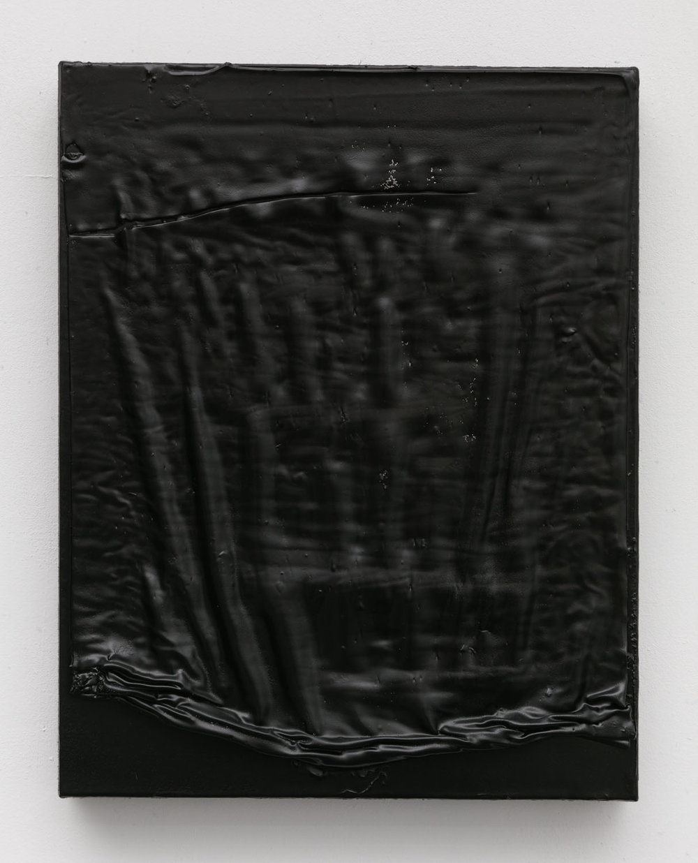 Thomas Fougeirol  Untitled, 2016  Mixed media on canvas  14 x 11 inches