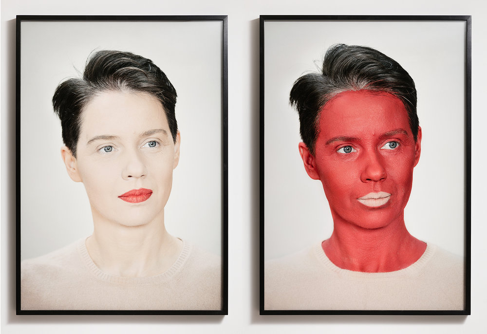 Aneta Grzeszykowska   Negative Make Up , 2016  Archival print on cotton paper  100 x 70 cm each  39.37 x 27.56 inches each  Edition 1 of 3 + 1 A.P.