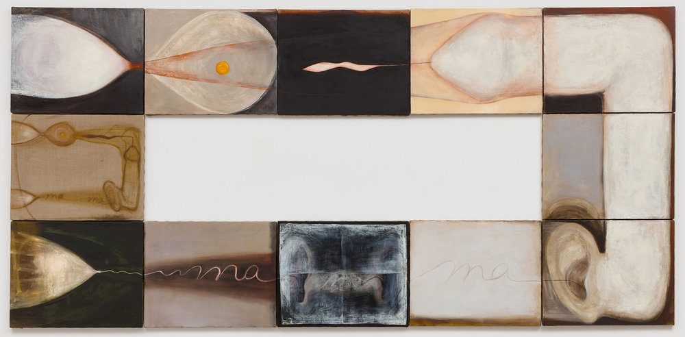Mira Schor   MA(me)MA , 1991  Oil on 12 canvases