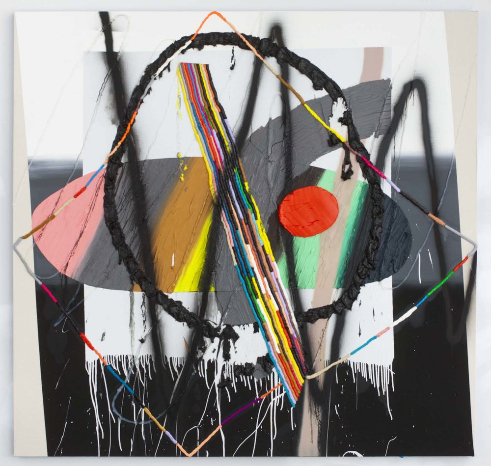 Trudy Benson   Gusto , 2012  Acrylic, enamel, silicone, and oil on canvas  77 x 80 inches