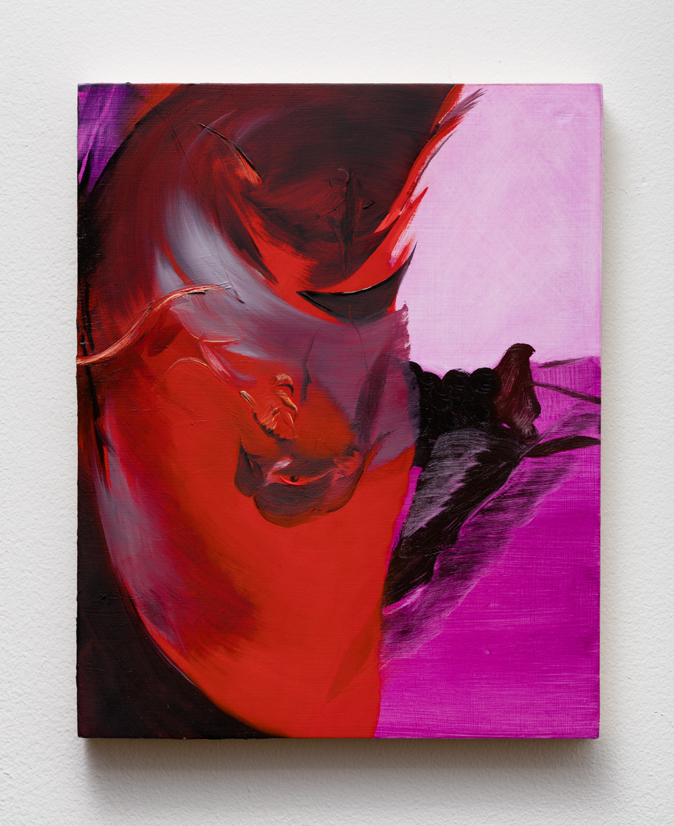 Rachel LaBine   Taut Stem, Blithe Spirit , 2017  Oil on panel  10 x 8 inches