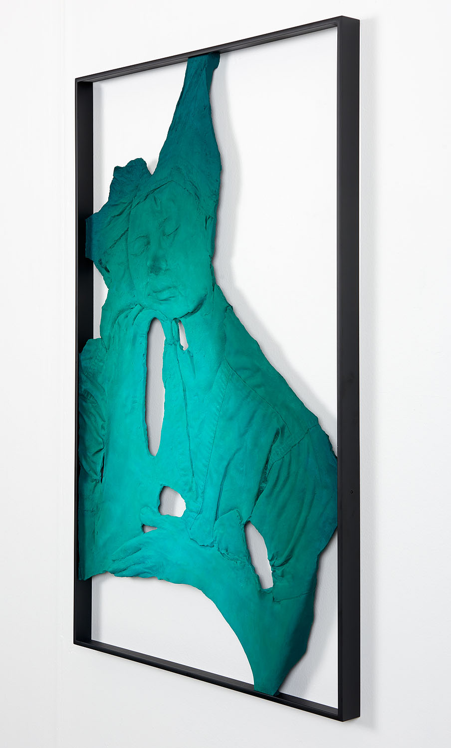 Lucy Kim   Plastic Surgeon (Dr. Melissa Doft) #1 , 2017  Oil, acrylic, Flashe, spray enamel, urethane resin, epoxy, fibreglass, powder-coated aluminum frame  32 x 23.5 x 3 inches