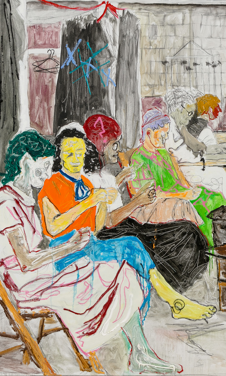 Farley Aguilar   Women Sewing , 2016-2017  Detail
