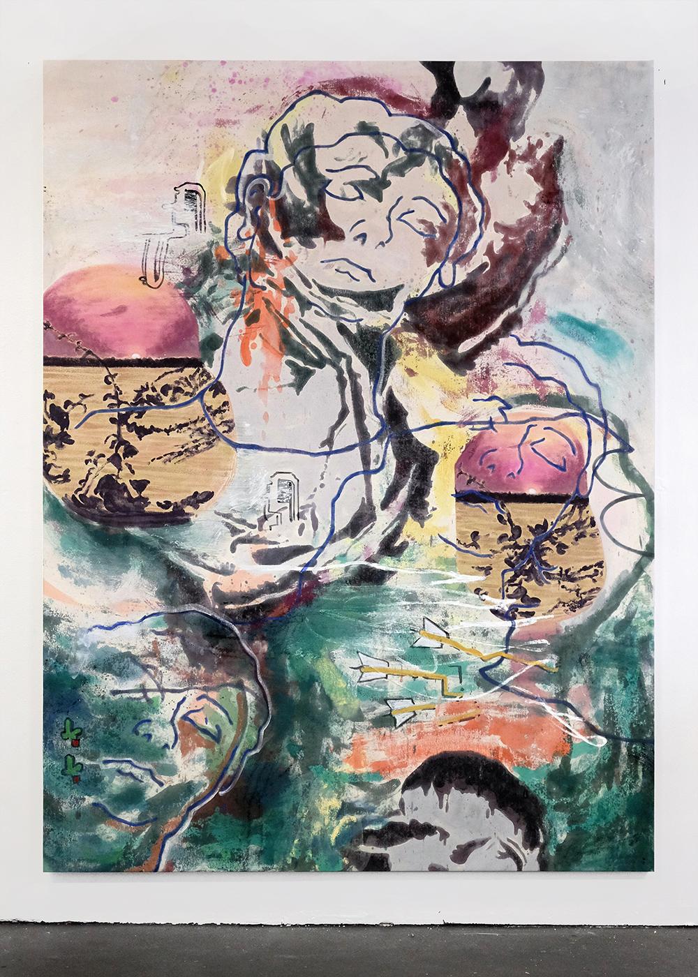 Chris Hood,  Vita Sueno , 2018, Alkyd on canvas, 91 x 70 inches