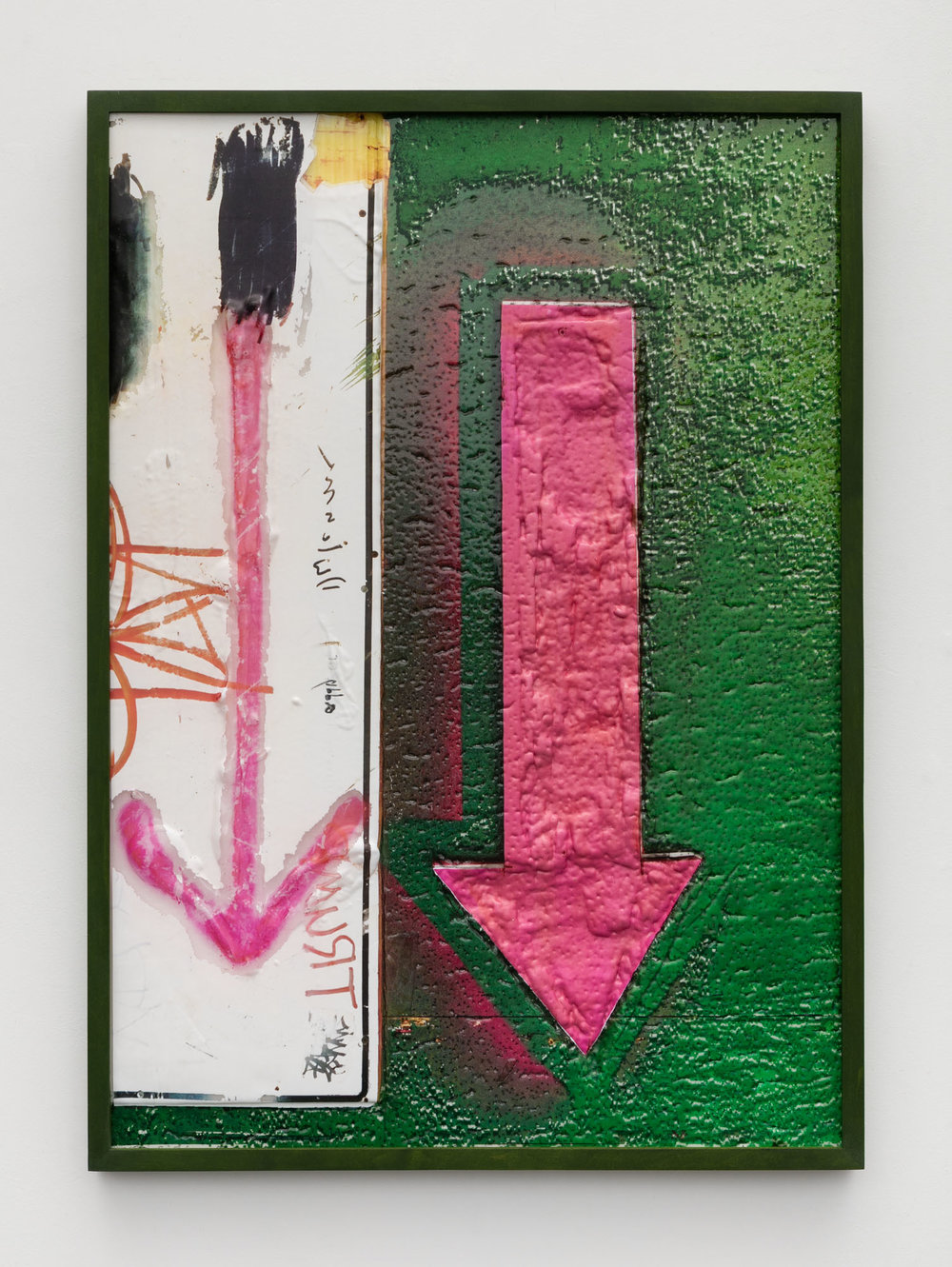 Ethan Greenbaum   Hoarding , 2018  Direct to substrate double sided print, acrylic on vacuumed formed PETG  28 x 20 inches