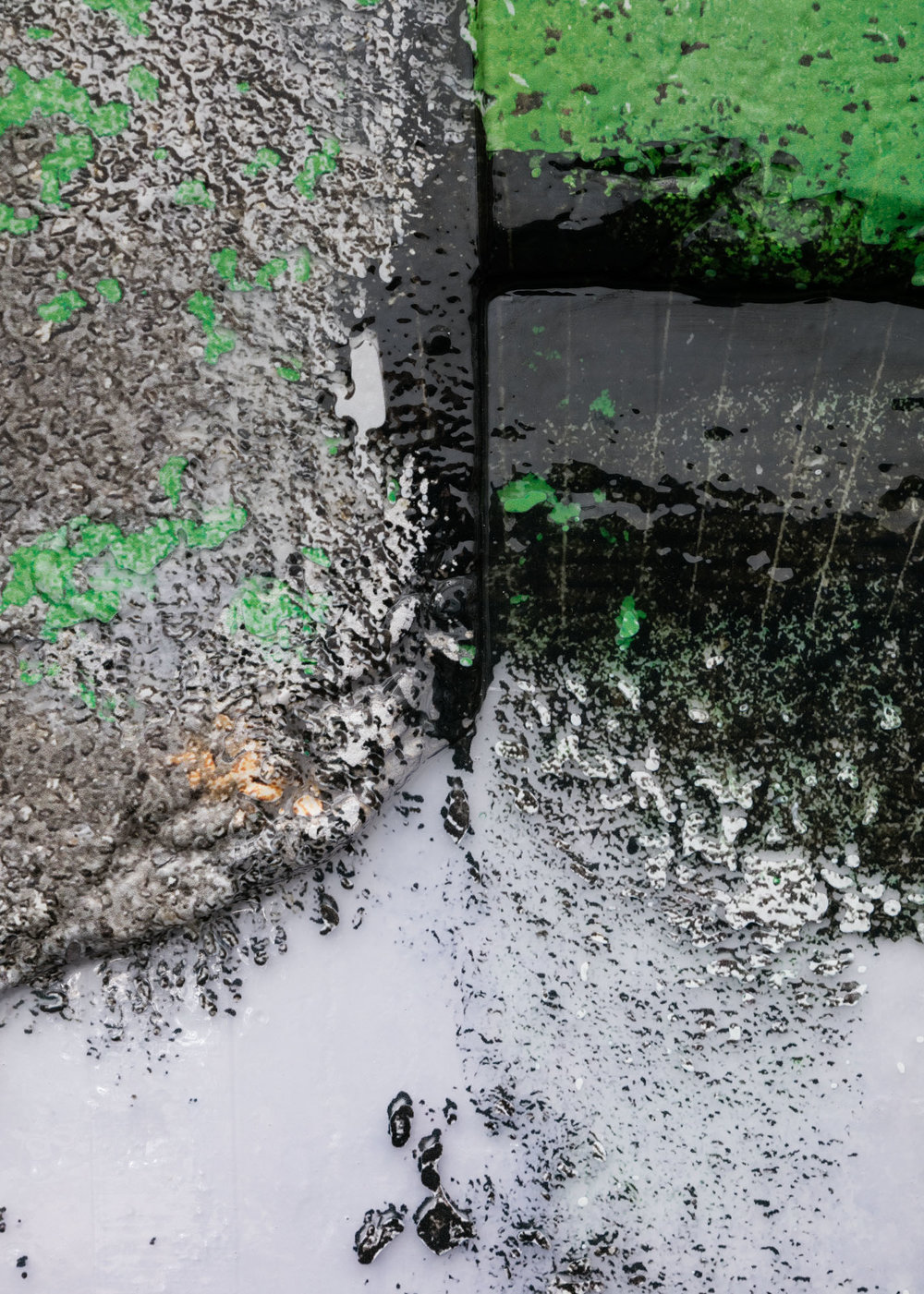 Ethan Greenbaum   Moon Resin , 2018  Detail view