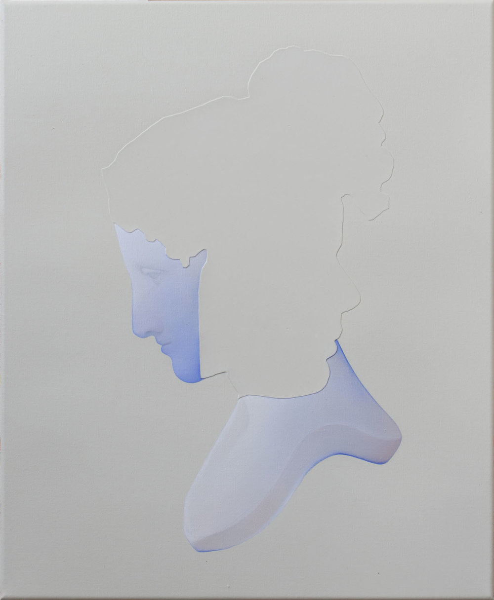 Vivian Greven   VV,IX , 2018  Oil and acrylic on canvas  21.625 x 17.375 inches