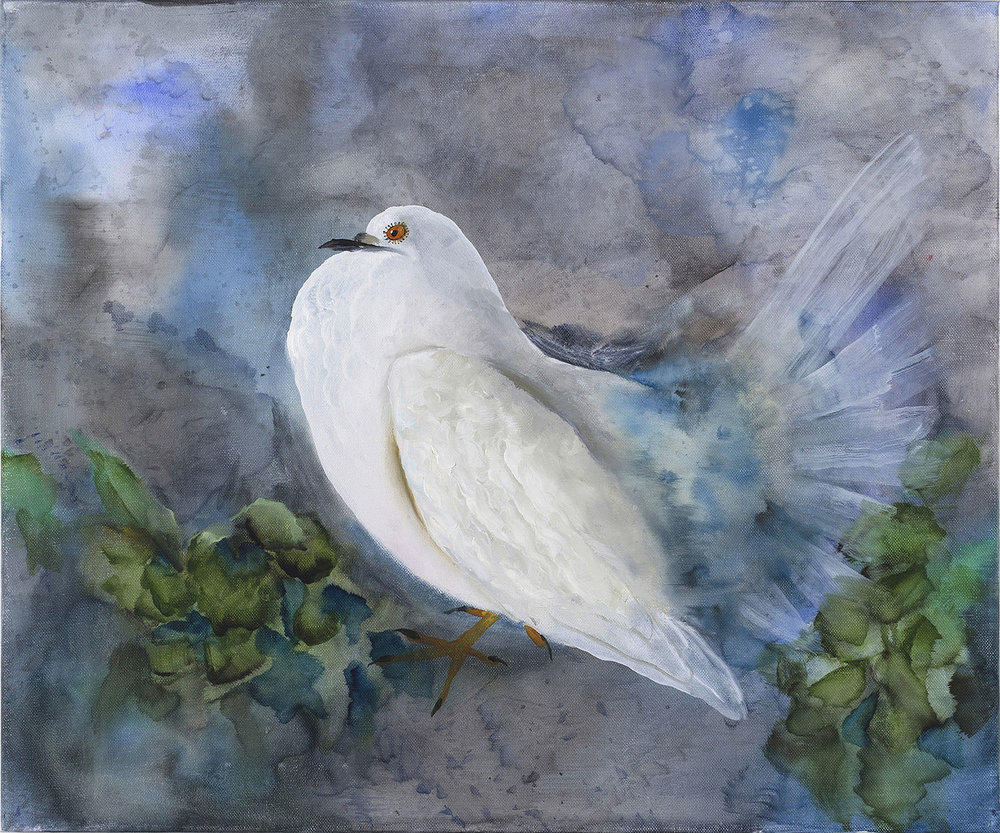 Autumn Ramsey   Fat Dove , 2016  Oil on canvas  20.125 x 24 inches